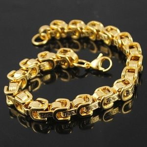 Greek Stainless Steel Gold Bracelet
